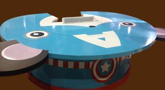 巨轮圆形铁板烧设备-新概念铁板烧