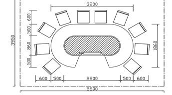 椭圆形铁板烧CAD规格